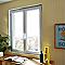 Fenêtre pvc 2 vantaux oscillo-battants tirant droit Grosfillex blanc - 100 x h.75 cm