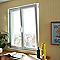 Fenêtre pvc 2 vantaux oscillo-battants tirant droit GROSFILLEX blanc - 120 x h.105 cm