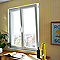 Fenêtre pvc 2 vantaux oscillo-battants tirant droit GROSFILLEX blanc - 120 x h.115 cm