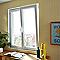 Fenêtre pvc 2 vantaux oscillo-battants tirant droit GROSFILLEX blanc - 120 x h.95 cm