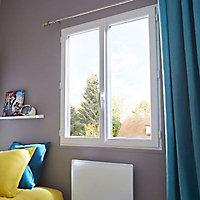 Fenêtre pvc 2 vantaux à la française tirant droit Grosfillex blanc - 140 x h.115 cm
