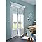 Porte-fenêtre PVC 2v 120 x h.215 cm, t.droit + volet roulant