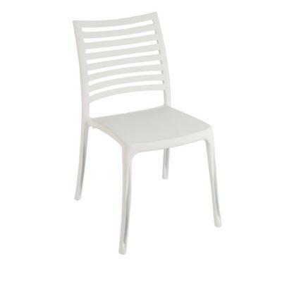 Chaise de jardin en résine Sunday blanc