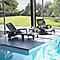 Lot 2 bains de soleil + table basse en résine taupe