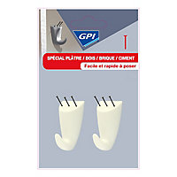Crochet spécial plâtre GPI moyen modèle blanc