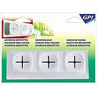 Accroche-serviettes triple GPI blanc