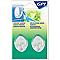 2 crochets ovale GPI grand modèle adhésifs blanc transparent