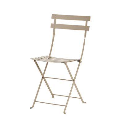 Chaise de jardin Bistro brun noisette