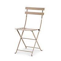 Chaise de jardin en métal Bistro muscade pliante Fermob