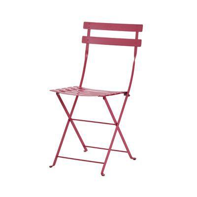 Chaise de jardin bistro rose fuchsia pliante castorama for Chaise pliante castorama