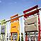Galette de chaise rectangulaire Bistro gris 37,5 x 29 cm