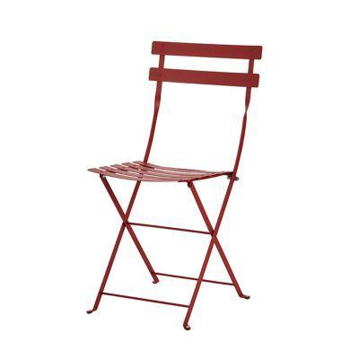 Chaise de jardin Bistro rouge piment