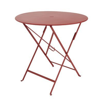 Table de jardin Bistro ø77 cm rouge piment