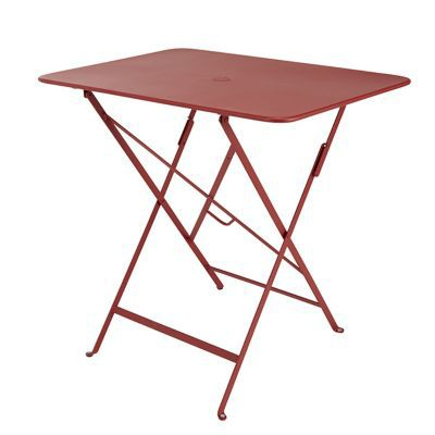 Table de jardin Bistro 77 x 57 cm rouge piment