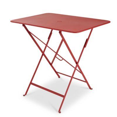 Table de jardin en métal Bistro rouge piment pliante 77 x 57 cm Fermob