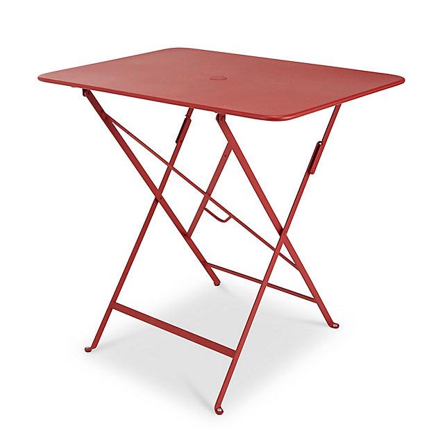Table De Jardin En Metal Bistro Rouge Piment Pliante 77 X 57 Cm Fermob Castorama
