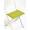 Galette de chaise rectangulaire Bistro verveine 37,5 x 29 cm