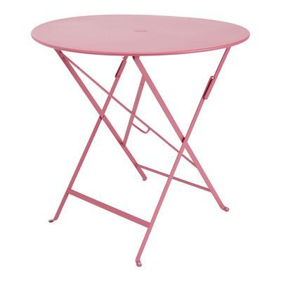 Table de jardin Bistro ø77 cm rose fuchsia