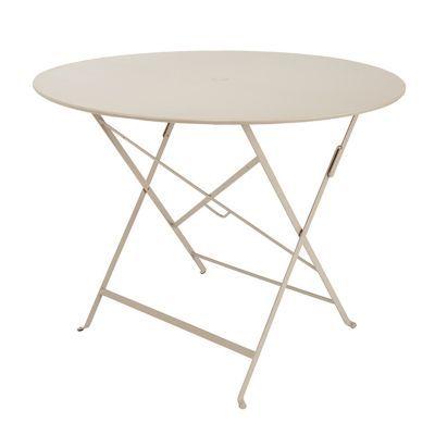 Table de jardin en métal Bistro muscade pliante ø96 cm Fermob
