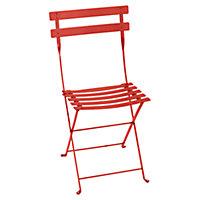 Chaise de jardin en métal Bistro capucine pliante Fermob