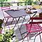 Chaise de jardin en métal Bistro miel pliante Fermob