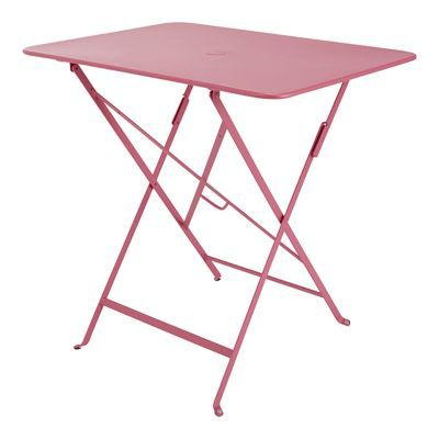 Table de jardin Bistro 77 x 57 cm rose fuchsia