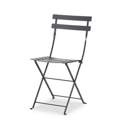 Chaise de jardin Bistro carbone