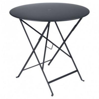 Table de jardin en métal Bistro carbone pliante ø77 cm Fermob
