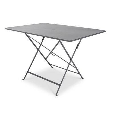 Table de jardin Bistro 117 x 77 cm carbone