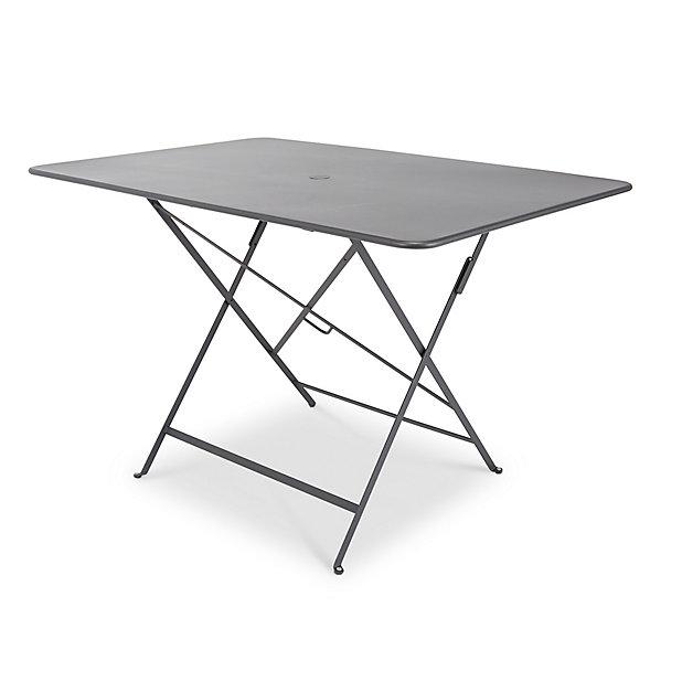 Table De Jardin En Metal Bistro Carbone Pliante 117 X 77 Cm Fermob Castorama