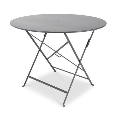 Table de jardin Bistro ø96 cm carbone