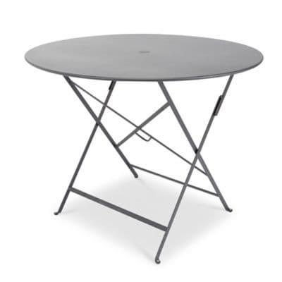 Table de jardin en métal Bistro carbone pliante ø96 cm Fermob