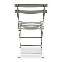 Chaise de jardin en métal Bistro romarin pliante Fermob