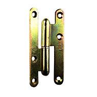 Paumelle gauche bronze 110 x 55 mm