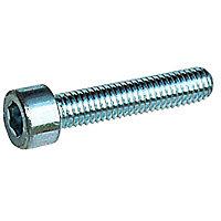 4 vis métaux tête cylindrique hexagonale 6 pans creux Diall Ø6 x 20 mm