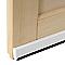 Bas de porte universel brosse PLASTO blanc 93 cm