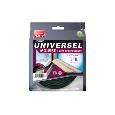 Joint Mousse Universel Plasto Noir 9 Mm X L 6 M Castorama