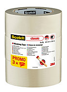 Ruban de masquage Scotch 3M 50 m x 48 mm - 3 rouleaux