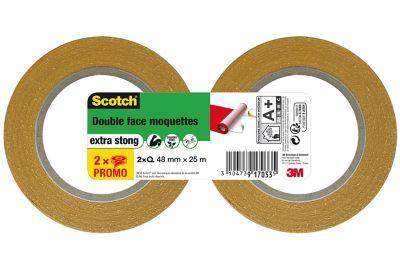 Double Face Pour Sols Moquette Scotch 50 Mm X 5000 Cm