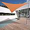Voile d'ombrage triangle Morel terracotta 500 cm