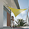 Voile d'ombrage triangle Morel vert anis 360 cm
