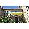 Voile d'ombrage carré MOREL vert anis 360 cm