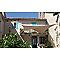 Voile d'ombrage carré Morel brun havane 360 cm