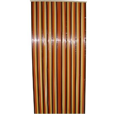 Rideau de porte brun et beige 90 x 220 cm
