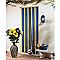 Rideau de porte à lanières PVC brun/beige 100 x 220 cm