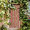 Rideau de porte chenilles Florence beige et rouge 90 x 220 cm