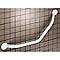 Barre d'appui coudée 135° en acier blanc GODONNIER L.37 cm