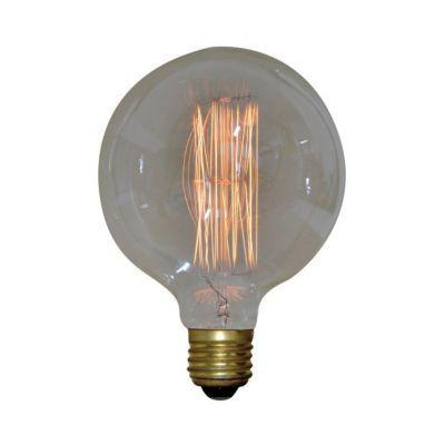 ampoule filament droit e27 globe 125 mm 40w blanc chaud castorama. Black Bedroom Furniture Sets. Home Design Ideas