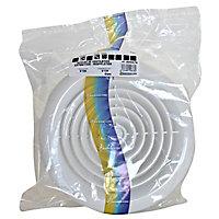 Grille d'aération pvc Autogyre ventilation naturelle ou VMC blanc Ø125 mm
