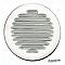 Grille d'aération métal AUTOGYRE à persiennes blanche Ø80 mm